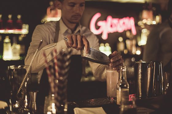 Le bar à cocktails du Groom à Lyon