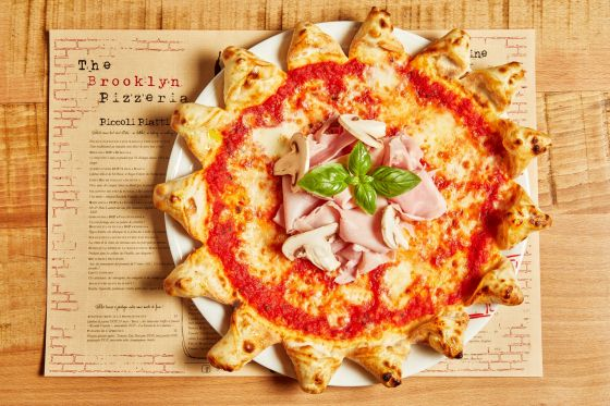 Une pizza de The Brooklyn Pizzeria