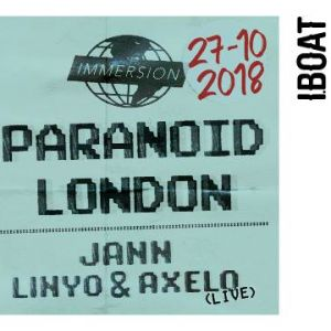 Paranoid London à l'IBOAT le 27 octobre 2018