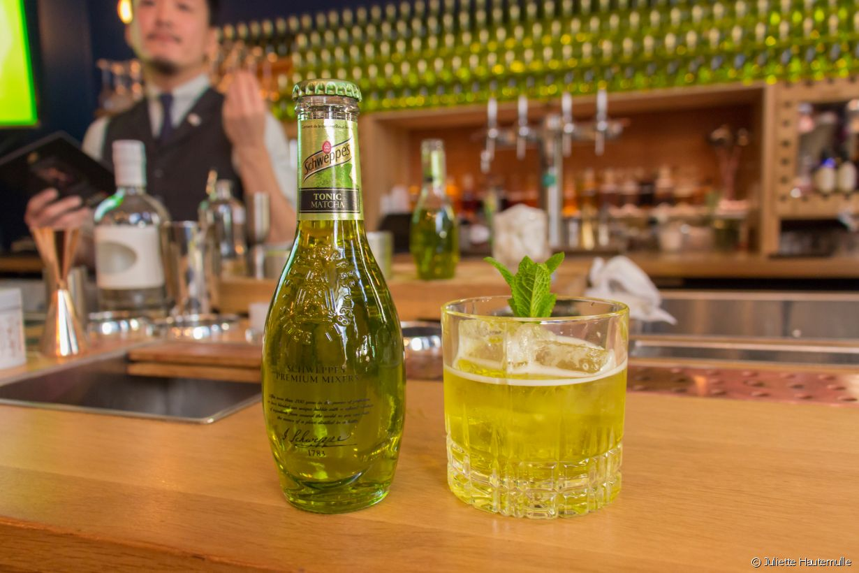 Le cocktail Mas Verdita du mixologue japonais Shingo Gokan