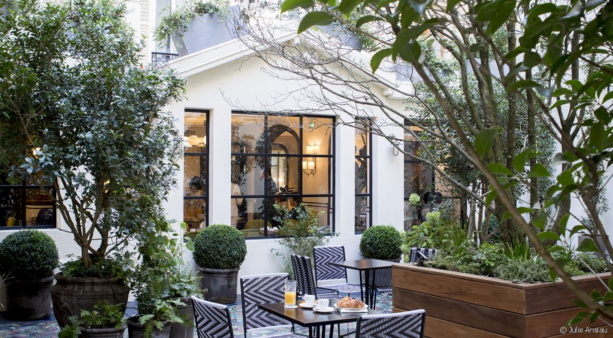 Le jardin secret de l 39 h tel bienvenue 23 rue buffault for Hotel le secret paris