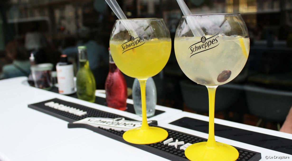 Le pop-up Schweppes sur la terrasse du Drugstore