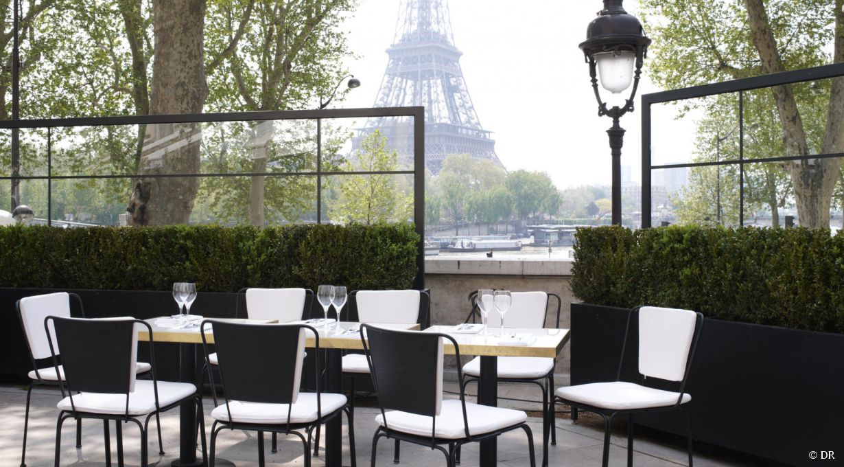 La terrasse du monsieur bleu 20 avenue de new york 75016 for Restaurant paris terrasse jardin