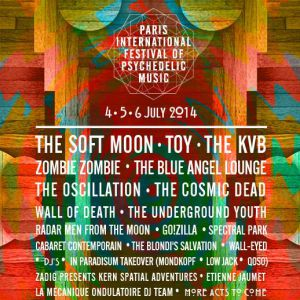 "La programmation du ""Paris International Festival Of Psychedelic Music"""