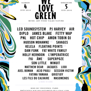 L'affiche de l'édition 2016 du festival We Love Green