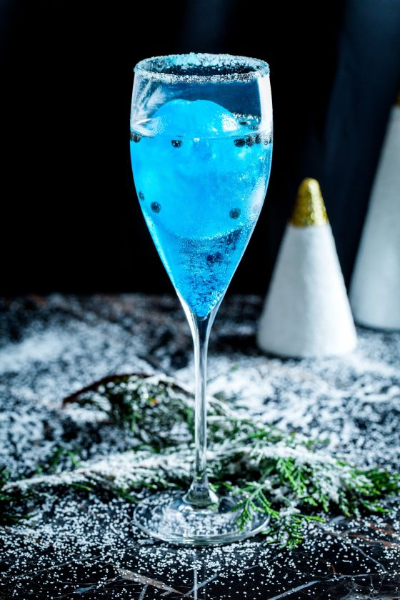 "Le cocktail ""Fizzy Iceberg"""