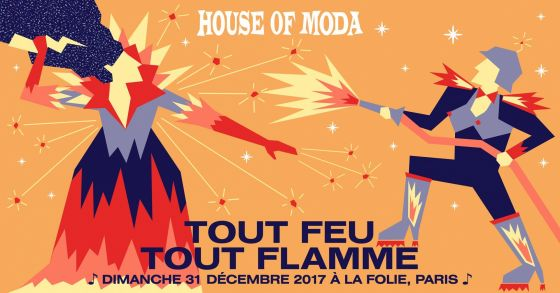 L'after de la House of Moda au club A la Folie le 1er janvier 2018