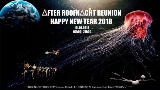 L'after Roof Nacht le 1er janvier 2018