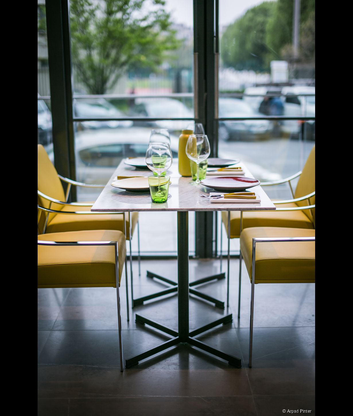 Une table de La Brasserie FR\AME