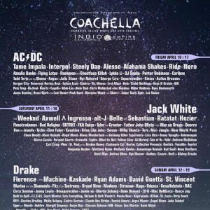Le line-up de Coachella 2015