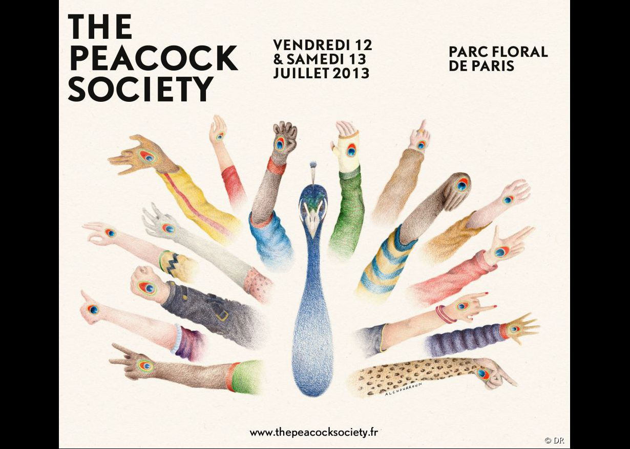The Peacock Society, le 12 et 13 juillet 2013 au Parc Floral de Paris