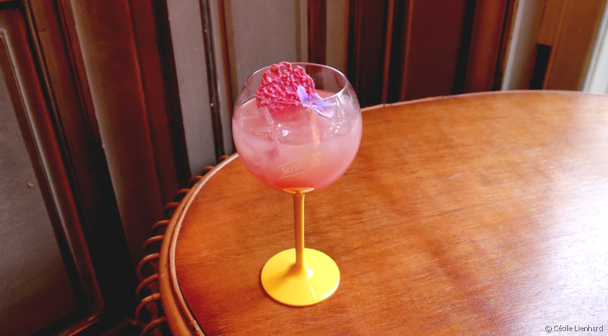 Cocktail à l'hibiscus