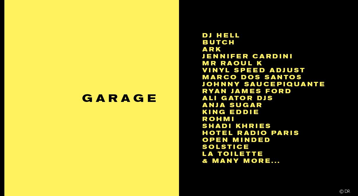 Le grand rivage est mort vive garage for Garage paris club